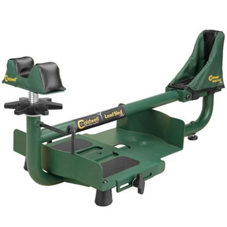 <p>The Caldwell Lead Sled Plus Shooting Rest can reduce recoil by up to 95 percent while securely holding a firearm in place. This Caldwell sled shooting rest features an adjustable weight tray, a padded rear rest and non-marring rubber feet. This lead sled shooting rest can hold two 25lb barbell weights and up to 100lbs of lead shot. The Caldwell Lead Sled Plus Shooting Rest's adjustable height rear foot lets you select the optimal elevation, and the Caldwell sled shooting rest's improved…