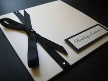 Wedding Invitation with inside side pocket to hold your RSVP & gift information