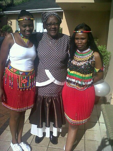 Zulu wedding, traditional outfit.