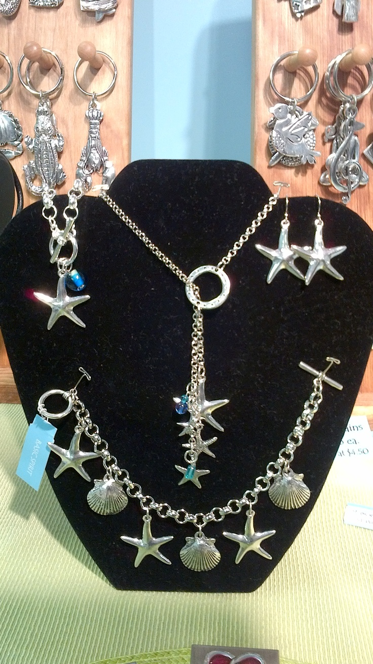 Starfish bracelet, necklace and earrings designed by Basic Spirit.  Perfect for the star in your life.