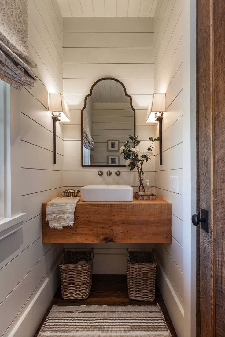 Bathroom Mirrors Farmhouse best 20+ farmhouse style bathrooms ideas on pinterest | farm style