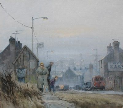 British Artist John LINES - Waiting for the No. 9