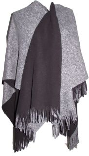 Amazing combination of sophistication, comfort and warmth all wrapped up in this beautiful shawl.  Materials:  - 100% Polyester  Colour: Grey  Size: One Size