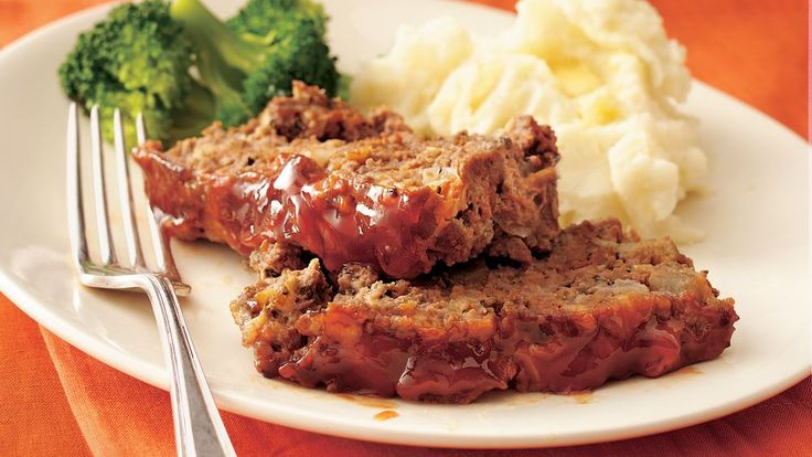Maple-flavored syrup pairs with ketchup to glaze traditional meatloaf with an unexpected seasonal swing.
