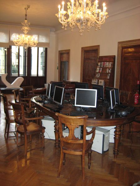 Postazione PC, Biblioteca Fondazione Querini Stampalia #biblioteca #querinistampalia