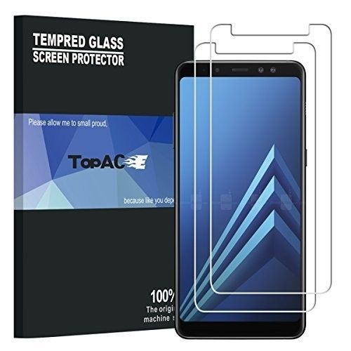 Samsung Galaxy A8 Plus Screen Protector Tempered Glass Premium Thin Film 2 Pack #CellPhoneAccessories