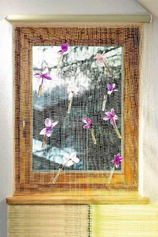 Blooming DIY curtain
