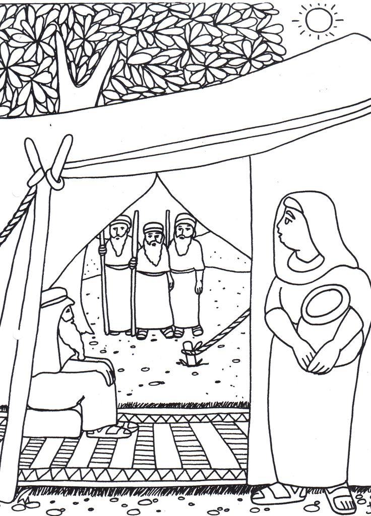 hagar and ishmael coloring pages - photo#22