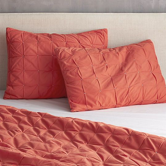 mahalo red-orange bed linens | CB2