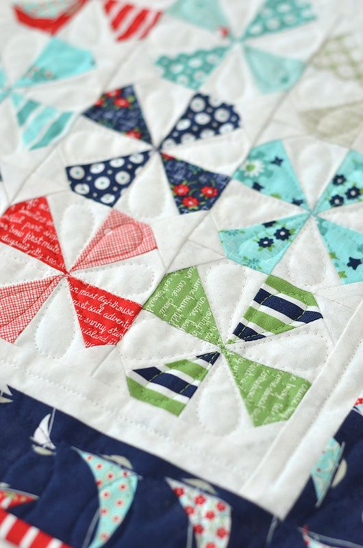 Nice Windmill Quilt.  Love the nautical feel.