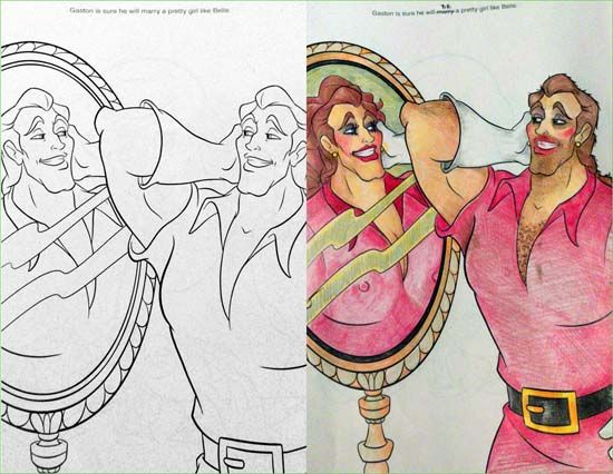 Coloring Book Corruptions Beauty Beast Mirror Mirror On The Wall