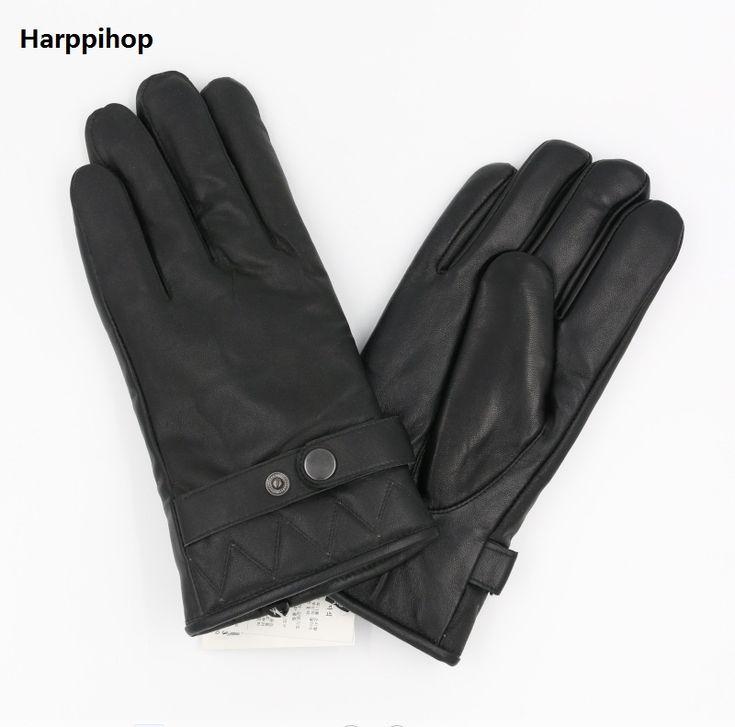 New Designer Luxury Mens Gloves High Quality Genuine Leather sheepskin Mittens Warm Winter Gloves for fashion Male Glove luvas