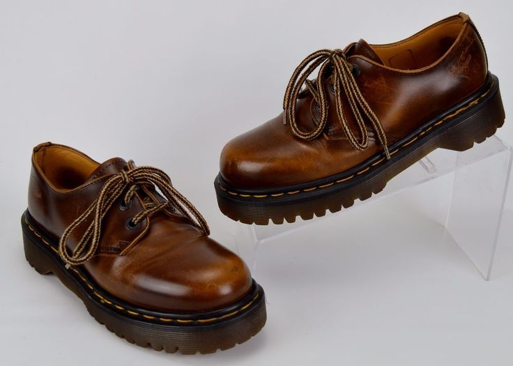 Vintage Dr Martens UK 4 US Women's 6 Brown Leather Oxfords 8318 #DrMartens #Oxfords #Casual