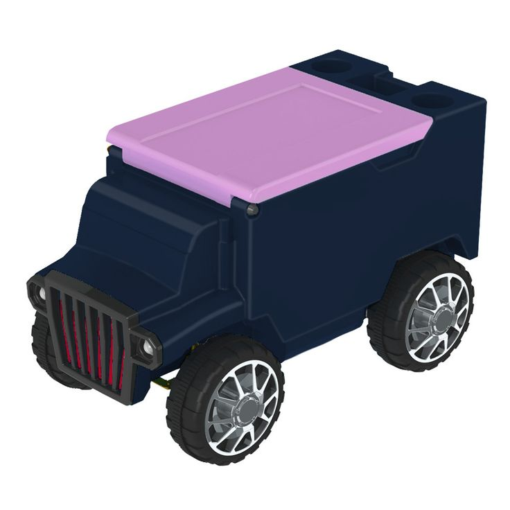 Navy/Hot Pink RC Truck Cooler w/ Bluetooth Speakers