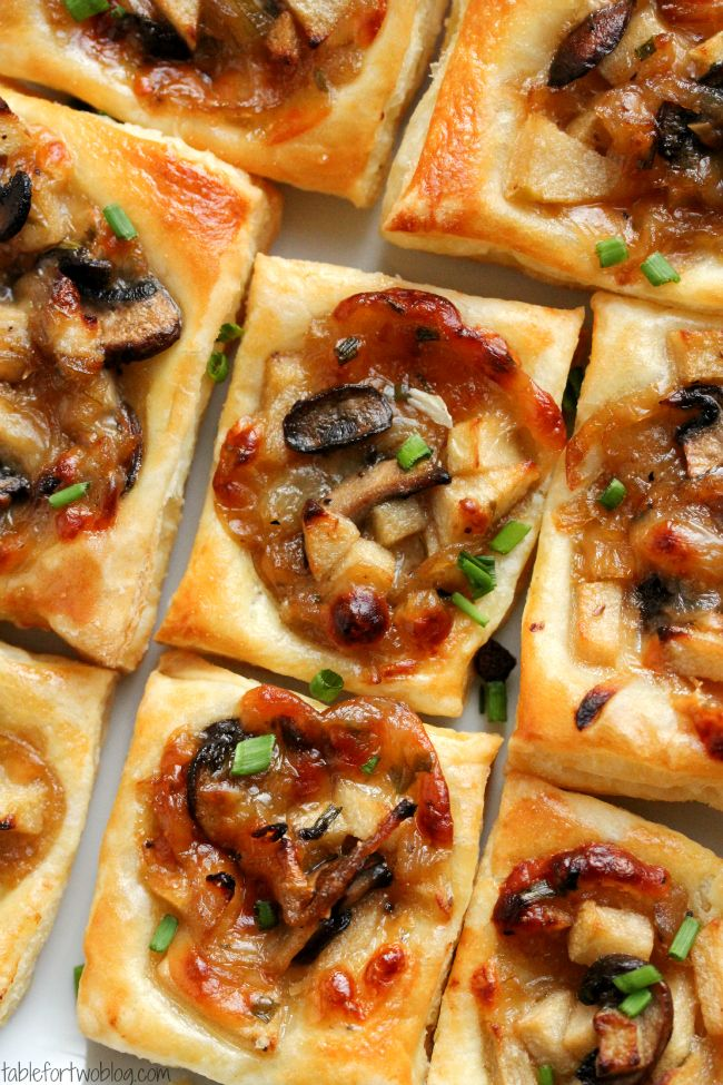 Caramelized Mushroom, Apple, Mushroom and Gruyere Bites