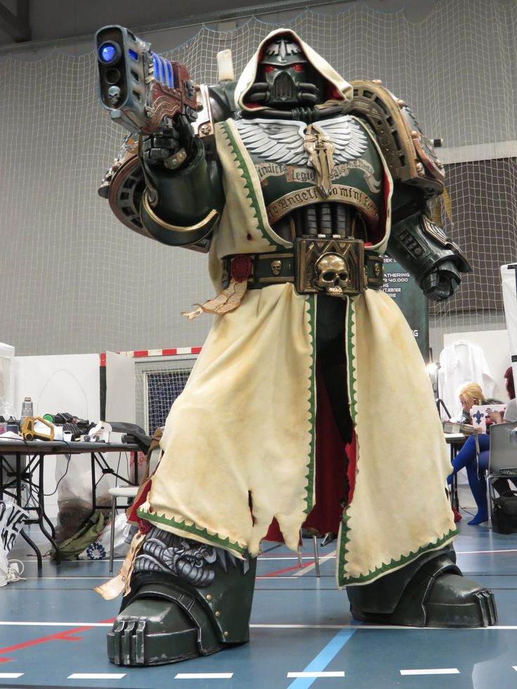 Darkangel armour by ElysianTrooper gun platemail cloak belt pistol cosplay costume LARP LRP armor clothes clothing fashion player character npc | Create your own roleplaying game material w/ RPG Bard: www.rpgbard.com | Writing inspiration for Dungeons and Dragons DND D&D Pathfinder PFRPG Warhammer 40k Star Wars Shadowrun Call of Cthulhu Lord of the Rings LoTR + d20 fantasy science fiction scifi horror design | Not Trusty Sword art: click artwork for source