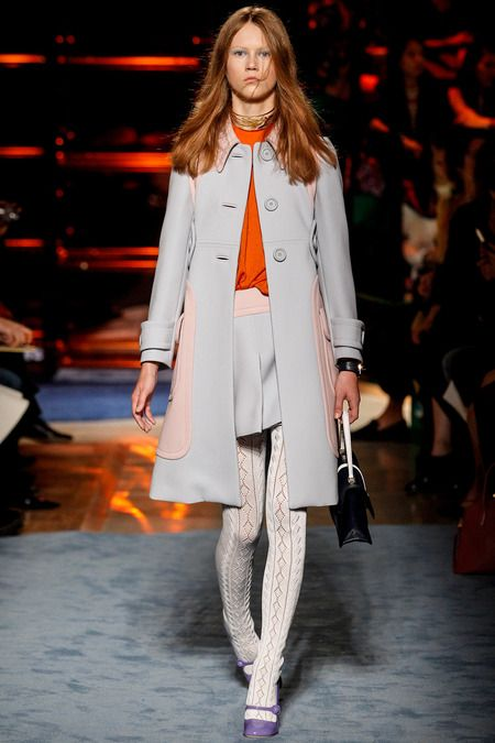 Miu Miu Spring 2014: Mod. Textured tights. Grey, pink and orange with a touch of purple.Ready To Wear, Miumiu, Runway Fashion, Photos Gallery, Spring Summer, Readytowear, Paris Fashion Weeks, Miu Miu, Fashion Spring