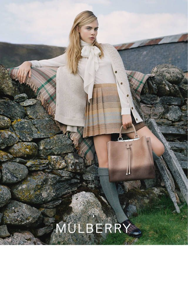 Mulberry Fall 2014 featuring Cara Delevingne.  See more stellar ad campaigns from Fall 2014 here!