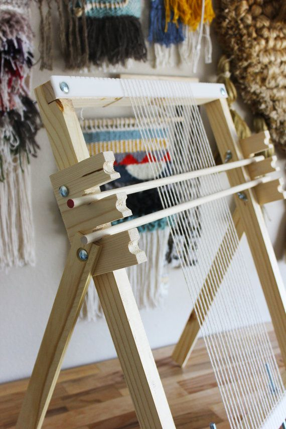 Handmade Wooden Weaving Loom Large With Heddles by hellohydrangea