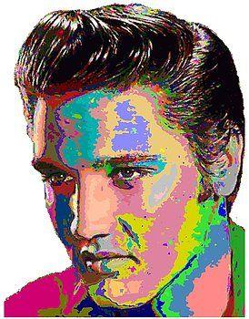 Colorful Elvis Presley by Samuel Majcen
