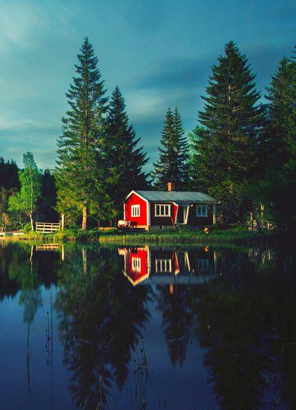 Lakeside cabin, Norway.