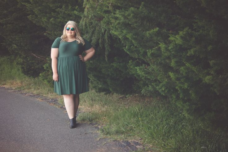 Green With Envy - Plus Size Outfit great for Autumn or Spring   Blonde Ink