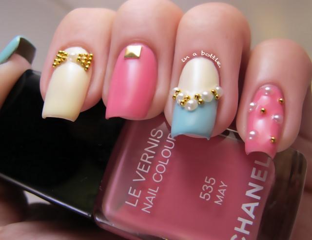 Chanel nails.Stilettos Nails, Nails Style, Nails Art, Chanel Nails, Cute Nails, Nailart, Nails Design, Polish Nails, Pastel Colors