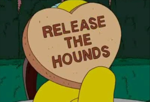 The Simpsons. Mr Burns being romantic.