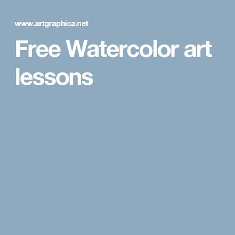 Free Watercolor art lessons