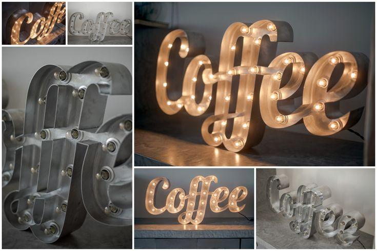 Светящиеся слова и надписи - RetroBlock винтажные буквы светильники из стали с лампами накаливания