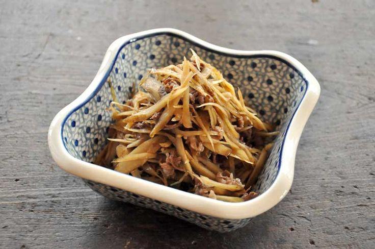 牛ごぼう(牛肉ごぼうの炒め煮)の写真