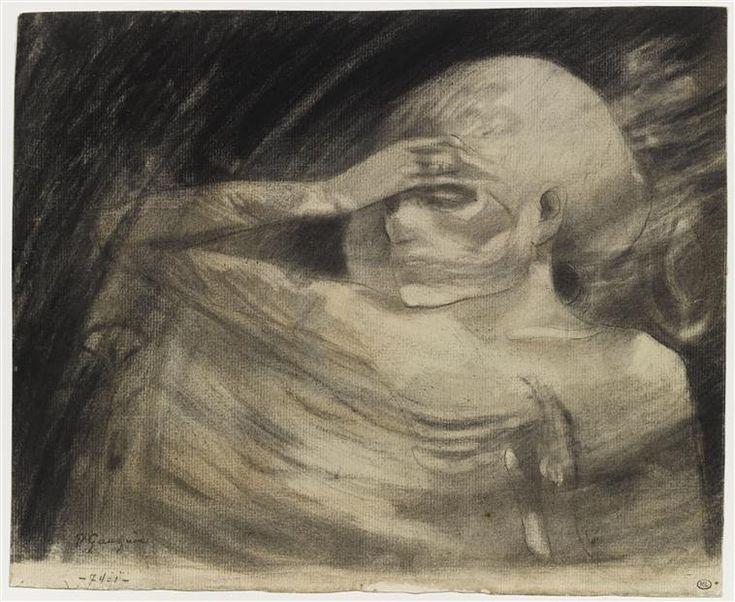 """Gauguin Paul (1848-1903)Dessins """"Madame La Mort Dessin exécuté pour servir de frontispice au """"Théâtre d'Art"""" de Mme Rachilde et illustrant la pièce : """"Madame La Mort"""". exécuté entre la fin de 1890 et le 4 avril 1891"""