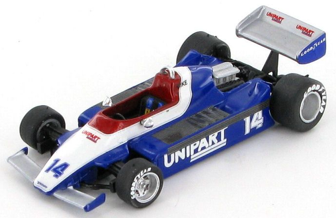Model of the Unipart Ensign MN180 Ford as tested in 1980 by Mike Thackwell.