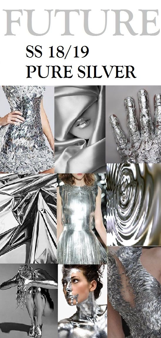 Fashion Forecaster- Shehjadi Umme Honey. SS 18/19, PURE SILVER //TRENDS //colors & patterns