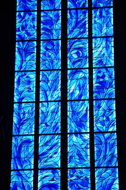 Mainz St. Stephen's Church - Marc Chagall designed stained glass window