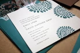 I like the modern look of these invites and the teal color is great for spring.