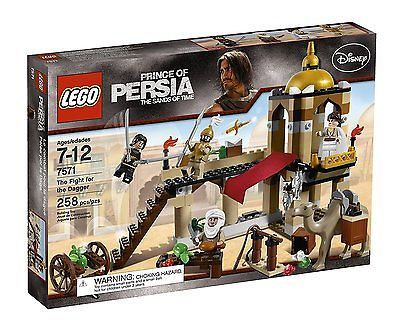 ﹩34.99. LEGO Prince of Persia Fight for the Dagger Set 7571 NEW NIB Retired Sealed Recommended Age Range - 7 +, Character Family - Prince of Persia, Packaging - Box, LEGO Character - Prince of Persia, LEGO Theme - Prince of Persia, UPC - 673419129404