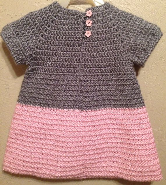 Soft & Beautiful Crocheted Pink and Grey Baby by ItsOwlAboutYou