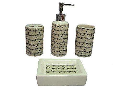 Indecor Home 4-Piece Ceramic Sheet Music Bath Set Indecor Home http://www.amazon.com/dp/B00KL3W55Y/ref=cm_sw_r_pi_dp_cRfjwb0MXEVPH