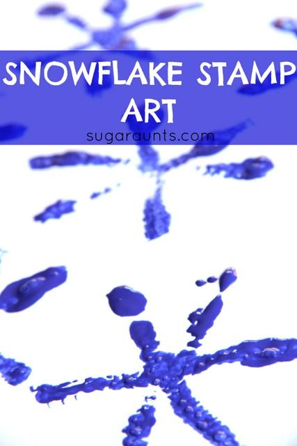 Snowflake stamp art with pipe cleaners. Would be great to let kids sculpt their own pipe cleaner designs for stamping.