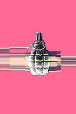 "Saatchi Art Artist Veronica Formos; New Media, ""Spectrum of a grenade LIMITED edition- 5 "" #art #newmedia #print #printmaking #tank #pink #contemporaryart #digital #photoshop"