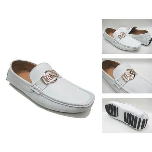 Michael kors men shoes, white leather with MK logo, casual http://www.bestmichaelkorslove.com/Michael-Kors-Logo-Flat-Large-White-Shoes-p-4750.html