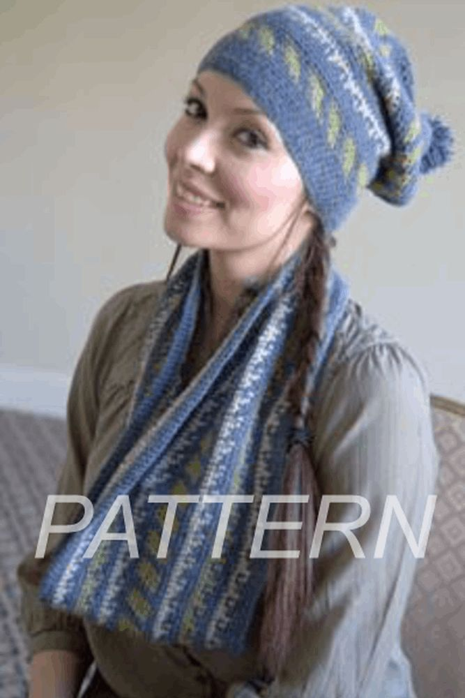 Baby Alpaca DK Crochet Fair Isle Hat and Cowl *Pattern* | Products ...