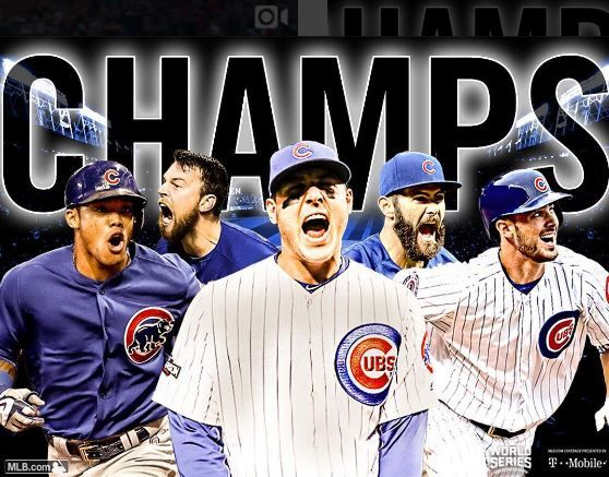 World Series Champions of 2016. The Cubs ended a 108 year World Series drought.