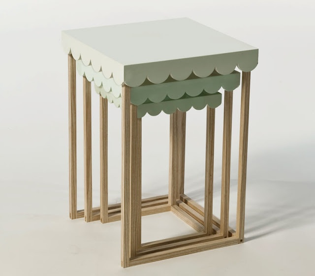 Scalloped tables by Maria Bjørlykke. #designeveryday