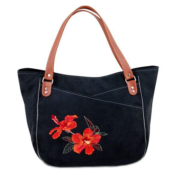 TAHITA hibiskus CZARNA w INCAT  na DaWanda.com