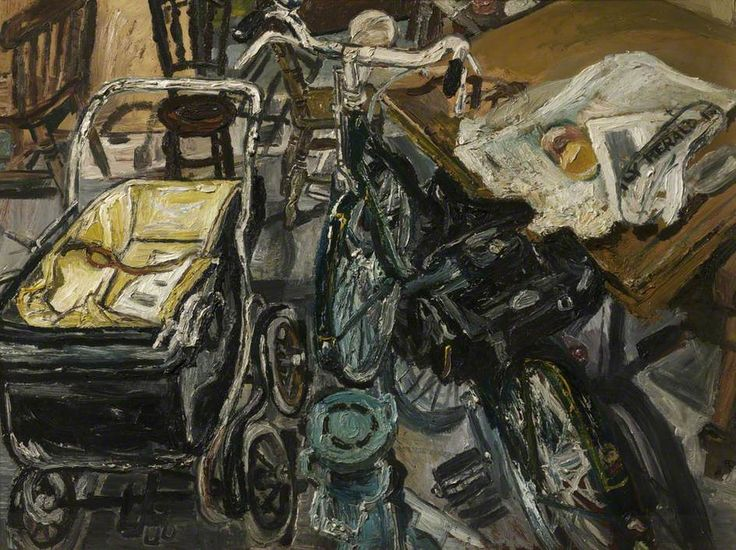 John Randall Bratby - The Bicycle Interior, c.1958, Oil on board, 86 x 115 cm, Bolton Library & Museum Services, Bolton Council.