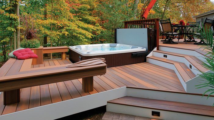 Pin By Kathy Webster On Dream Decks In 2020 Deck Patio Deck Designs Curved Deck