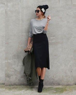 Boatneck Pocket T-Shirt / Loose fit / Casual