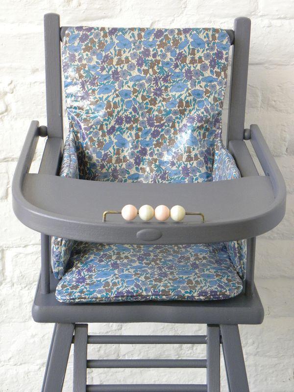 """coussin chaise haute """"demeure des anges"""""""